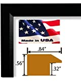 US Art Frames 13x19 Single Black Real Poplar Wood .84 inch Moulding Picture Frames Poster Frames