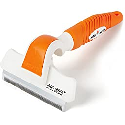 Cat & Dog Grooming Brush and Deshedding Tool - 10 YEAR GUARANTEE - Reduces Pet Hair In Your Home in Minutes - The Perfect Shedding Comb For Long Hair & Short Hair Pets Of Any Size