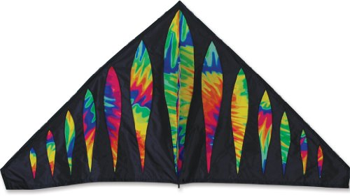 Premier 33199 56-Inch Delta Kite with Fiberglass and Hardwood Dowels Frame, Tie Dye Bullets