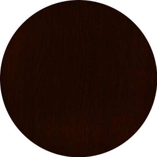 Werzalit / hochwertige Tischplatte / Nussbaum / runde Form 70 cm / Bistrotisch / Bistrotische / Gartentisch / Gastronomie