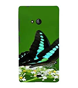 PrintVisa Butterfly Design 3D Hard Polycarbonate Designer Back Case Cover for Nokia Lumia 540