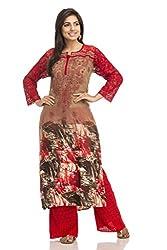 ADA Exclusive Handmade Chikankari Women's Ethnic Wear Cotton Kurta Kurti A115890