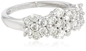 14k White Gold Diamond Ring (1 cttw, H-I Color, I2-I3 Clarity), Size 5