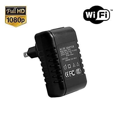 SpygearGadgets® 1080P HD WiFi AC Adapter Hidden Camera Nanny Cam with Lifetime Warranty