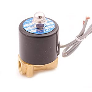 Generic Brass DC 12V 1/4 Inch Electric Solenoid Valve For Air Water Oil