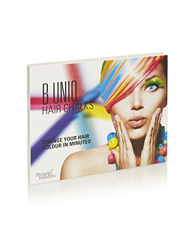 Hair Chalk, Temporary Hair Color for Any Occasion 24 Vibrant Colors in a Pack, Non-Toxic and Easy To Apply - By B Uniq (Dark Blue Hair Dye Splat compare prices)