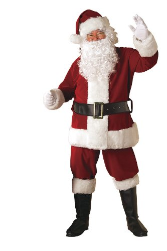 Rubie's Costume Deluxe Velvet Santa Suit With Wig And Beard