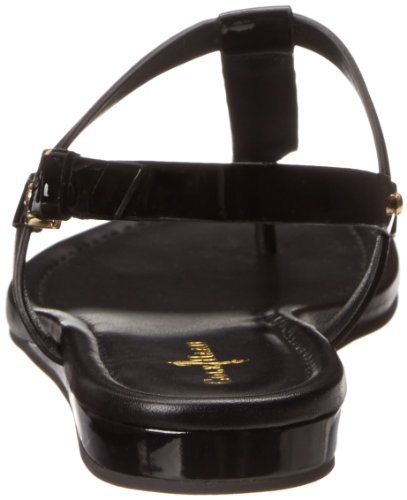 Cole Haan Women's Boardwalk Thong Dress Sandal,Black Patent,9.5 B US