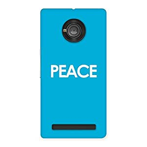 Cool Peace Back Case Cover for Yu Yunique