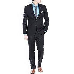 Premium Solid Black Suit