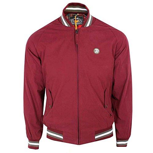 trojan-records-abrigo-para-hombre-rojo-rojo-maroon-m