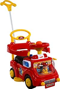 Baby Car ARTI Fire Engine 530W Red Ride-On Activity Toy with Parent Handle