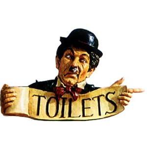 Toilettenschild Deko