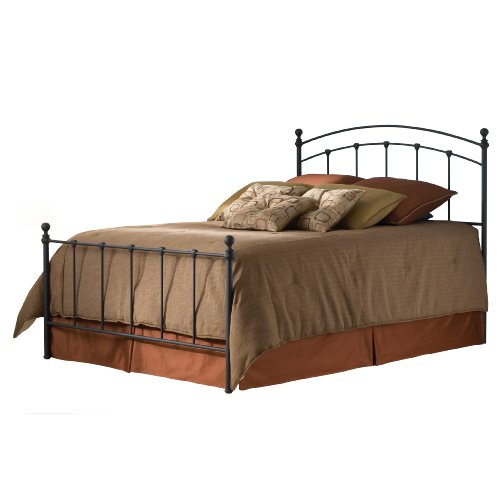 Fashion Bed Group Sanford Bed, Matte Black, Queen