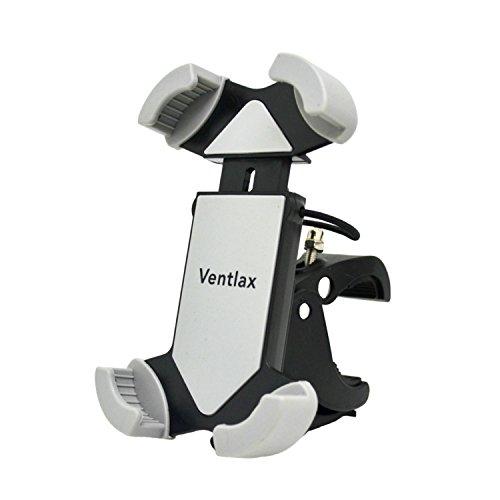 【Ventlax】 バイク 自転車 マウント ホルダー スマホ 5.5インチ iPhone 6s Plus 対応 保護バンド付き グレー