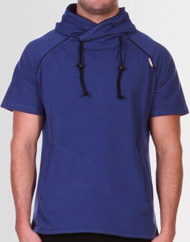 Kear and Ku Mens Boxer Hoodie Blue : Blue - Black - S