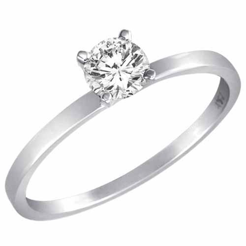 & Low Price 0 45 Ct Round Diamond Solitaire Ring In 18K