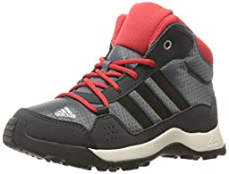 adidas Outdoor Boys\' Hyperhiker Hiking Boot, Onix/Black/Vivid Red, 1 M US Little Kid