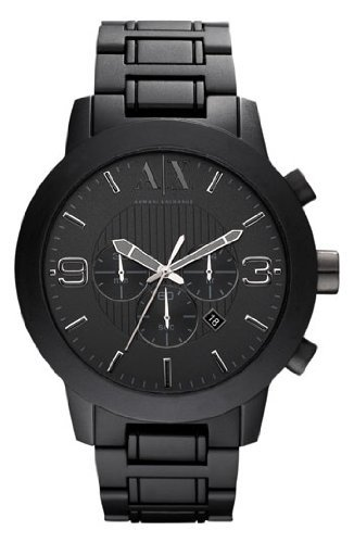 Armani Exchange Men's AX1157 Black Aluminum Quartz Watch with Black Dial