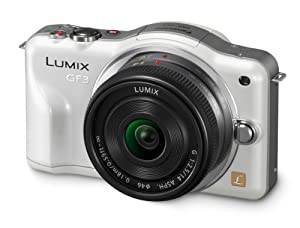 Panasonic DMC-GF3CW 12.1 MP Digital SLR with Touchscreen HD Recording Liveview (White)