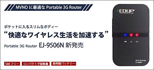 格安SIMにも対応したポータブル3Gルーター EJ-9506N / SIMフリーで国内唯一です。