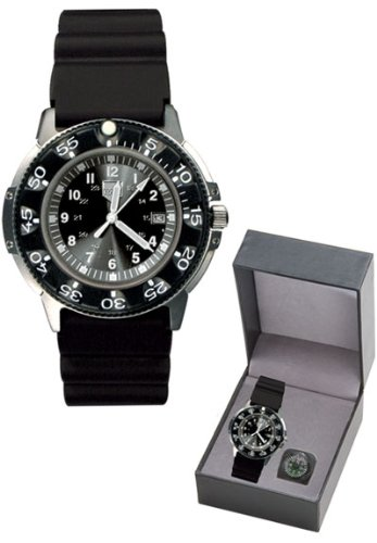 RAM Instrument Dive Watch, SS Case/Resin Bezel, Black Face