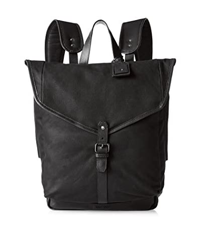Cole Haan Men's Waxed Canvas Backpack, Black
