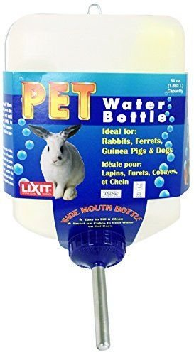 Lixit-Corporation-SLX0670-All-Weather-Rabbit-Water-Bottle-64-Ounce-New-Free