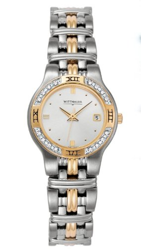 BULOVA Watches:Wittnauer Laureate Silver Tone Dial Stainless Steel and Gold Plated Women's Watch 12R12 Images
