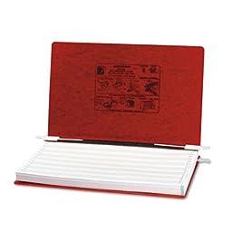 Pressboard Hanging Data Binder, 14-7/8 x 8-1/2 Unburst Sheets, Executive Red