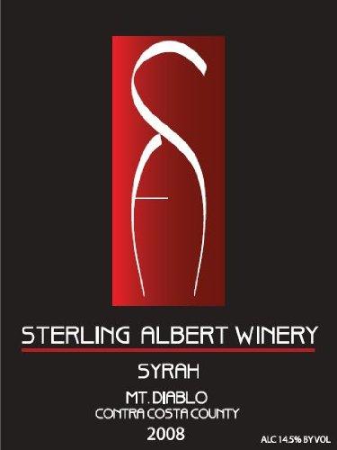 2008 Sterling Albert Mt. Diablo Contra Costa County Syrah 750 Ml