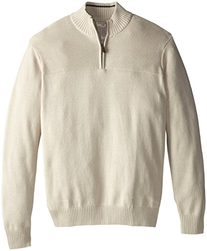Dockers Men's Solid Texture 1/4 Zip, Trail, 3X/Big