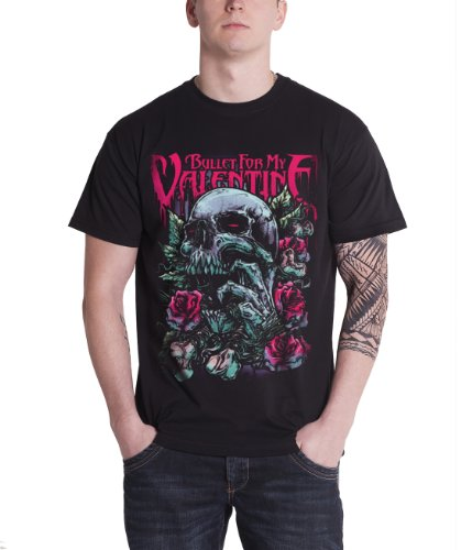 Bullet For My Valentine Skull Red Eyes Official Mens New Black T Shirt