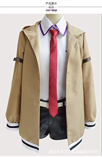 [Mtxc Women's Steins Gate Cosplay Costume Makise Kurisu Size Small Khaki] (Kurisu Makise Cosplay Costume)