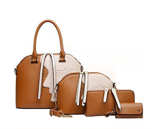 BG-Women-4-Pieces-Leatherette-Handbags-Clutches