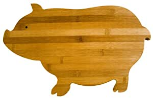 Totally Bamboo 15-Inch by 10-Inch Pig Cutting Board