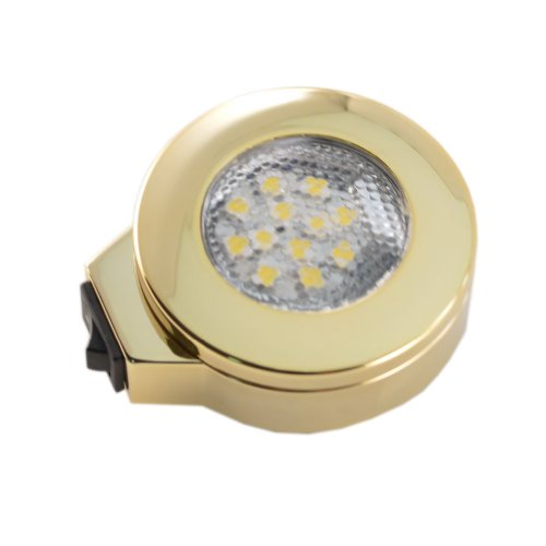 12 Volt Warm White Surface Mount Switched Polished Brass Overhead Light