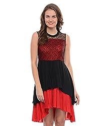 Leafe Women's Crepe Dress (HP29_Multicolor_M)