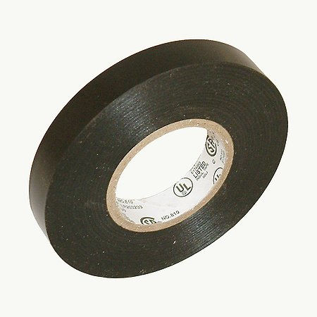 JVCC EL7566-AW Synthetic Rubber Premium Grade Electrical Tape, 66′ Length x 1/2″ Width, Black
