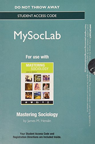 NEW MySocLab without Pearson eText -- Standalone Access Card -- for Mastering Sociology (Rent Mastering Sociology compare prices)