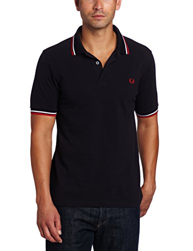 FRED PERRY M3600-471, Polo Uomo, Multicolore (Navy / White /Red), S
