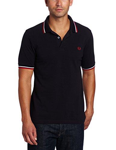 FRED PERRY - M3600-471, Polo da uomo, multicolore (navy / white /red), M