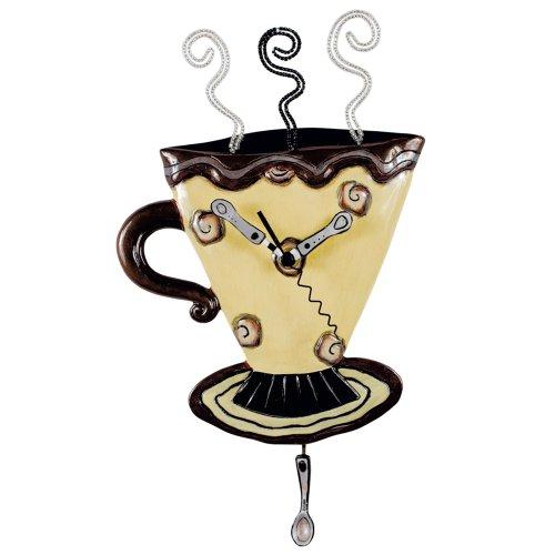 Allen Designs Mocha Cup Pendulum Wall Clock