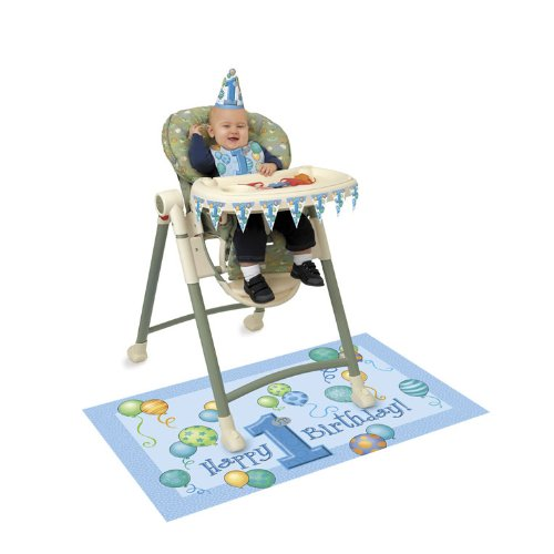 First Birthday Boy High Chair Kit front-1051439