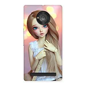 Special Doll With Bag Multicolor Back Case Cover for Yu Yuphoria