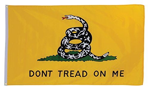 In the Breeze Dont Tread on Me Grommet Flag, 3 by 5-Feet