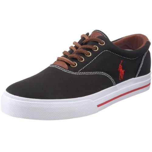Polo Ralph Lauren Men's Vaughn Fashion Sneaker, Black, 7.5 D US