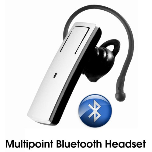 Wireless Bluetooth Headset Hands-Free Integrated With Echo Cancellation & Multi-Point Connectivity For All Htc Phones Also Included Free Wall And Car Charger For The Bluetooth Headset