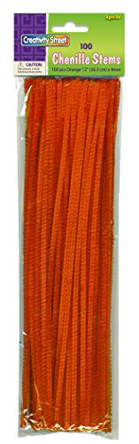 "Creativity Street Stetems/Pipe Cleaners 12"" X 4mm 100-Piece, Orange"