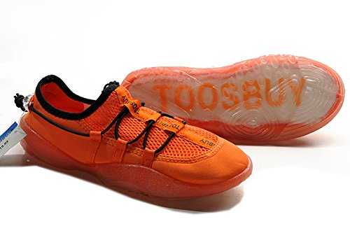 Tosbuy Air Cool Man's Slip on Water Shoes,women Beach Aqua,hiking,surfing,running Shoes (Eu41) Orange